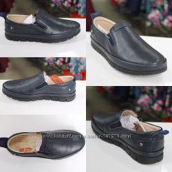 Мокасины для мальчика TIFLANI размеры 34-35 детская школьная обувь