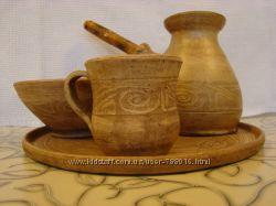 Посуда керамическая гончарная из молоченой глины. В наличии.