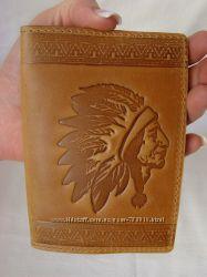 Обложка для паспорта натуральная кожа тиснение