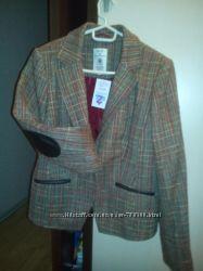 стильный женский пиджак Tom Tailor р48 с удлиненными рукавами