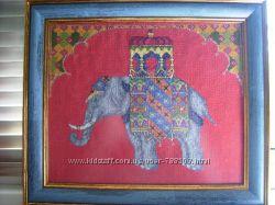 Картина-вышивкаИндийский слон