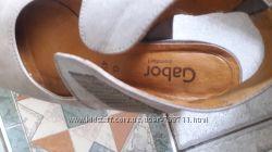 Туфли GABOR comfort 4, 5 на 37 р кожа натуральная, серые
