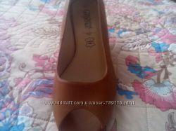 Туфли с открытым носкомкожа, босоножки , обувь весна-лето, фирма New Look в