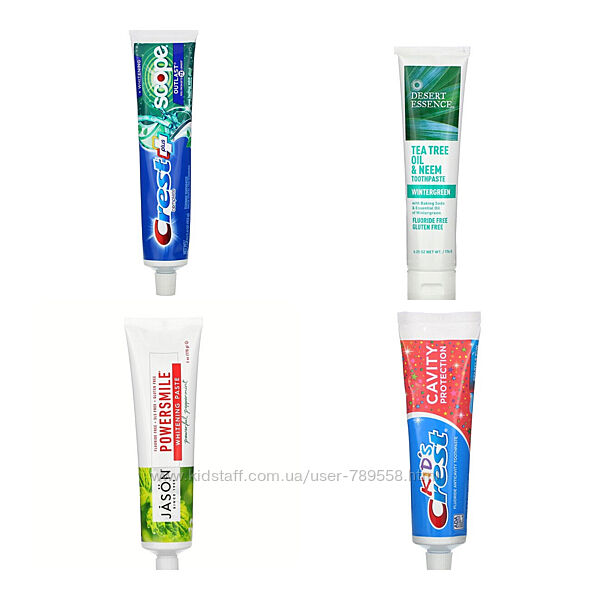 Зубная паста Jason, Crest Iherb