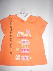 Новая  фирменная  футболка  малышке 6-12 месяц TU