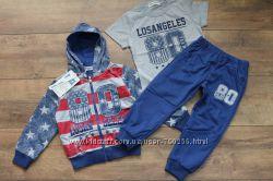 Спортивный костюм - тройка для мальчиков 1 - 4 года