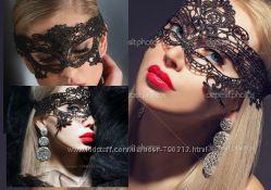 Кружевная эротическая маска для соблазнения Таинственная незнакомка