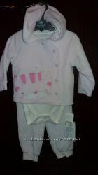 Набор штанишки, бодик, кофточка с капюшоном Mothercare