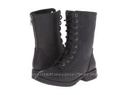 Steve Madden Черные детские ботинки на шнуровке сапоги бренд оригинал
