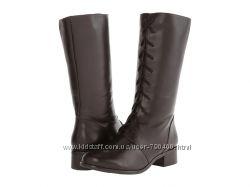 Fitzwell Сапоги на шнуровке кожаные широкий каблук бренд из США р38, 5