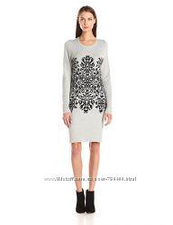 Вязаное платье миди бренд Sandra Darren оригинал из США р. Л