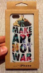 Чехол накладка make art not war на iPhone 5 5s