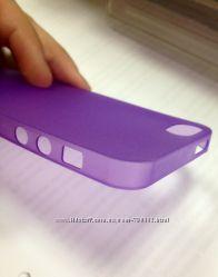 Чехол накладка ультратонкая для Iphone 5, 5s