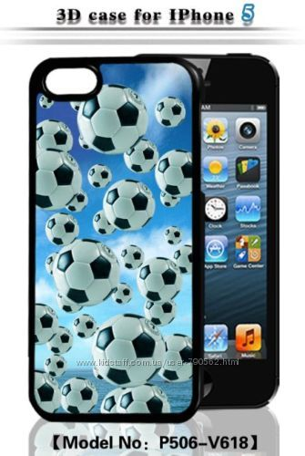 Чехол накладка Magic of football 3D для iPhone 5, 5S