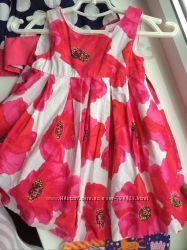 платье маки нарядное некст 6-9 мес