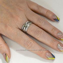 кольцо люкс серебро 925 пробы