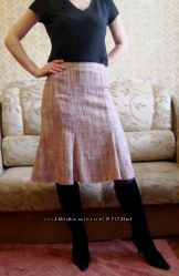 Юбка Dorothy Perkins нежно розовая вискоза лен теплая мягкая сост. новой
