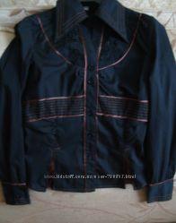 Рубашка блузка Moschino Оригинал Италия хлопок ажурные вставки воротник