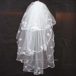 свадебная фата, перчатки, сумочки, подвязки для невесты