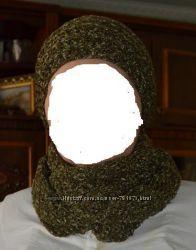Комплект шапка и шарф хомут. Ручная вьязка