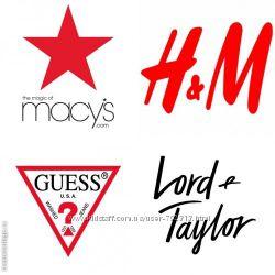 Macys, HM Америка, GUESS Америка, Lord and Taylor и др.