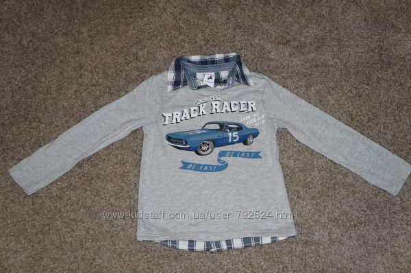 Реглан-рубашка на116- 122 см