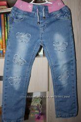 джинсы yuke бу для девочки  р. 104 в ассортименте