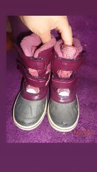 Термо ботинки фирменные кожаные 28-29р 18-18.5см