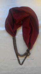 шарф з бісером і натуральний шовк
