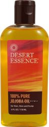 Desert Essence 100 Pure Jojoba Oil for Hair, Skin & Scalp 4 fl. oz 118 ml