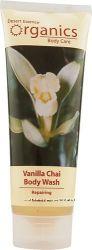 Desert Essence Organics Body Wash Vanilla Chai -- 8 fl oz 237 ml