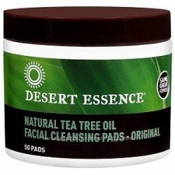Desert Essence Очищающие ватные диски с маслом чайного дерева 50 шт.