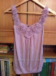 Нежно-фиолетовая кофточка