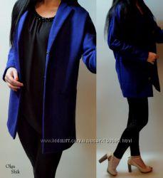 Новое пальто Top Shop синий электрик р. S