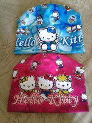 Шапка весна на девочку Hello Kitty, Winks, основа - трикотаж