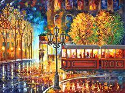 Осенний трамвай. Схема для вышивки бисером Маричка