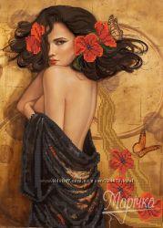 Ева. Ткань с рисунком для вышивания бисером ТМ Маричка
