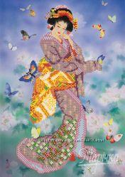 Восточная красавица. Ткань с рисунком для вышивания бисером ТМ Маричка