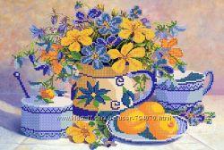 Абрикосовый джем. Ткань с рисунком для вышивания бисером ТМ Маричка