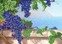 Виноград Ткань с рисунком для вышивания бисером ТМ Маричка