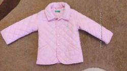 Итальянская стеганая курточка на девочку до 1 года