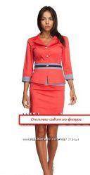 Стильный костюм пиджак и юбка, в наличии