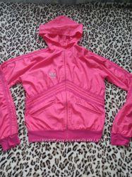 Легкая розовая ветровка мастерка  Adidas 40 размер XS-S