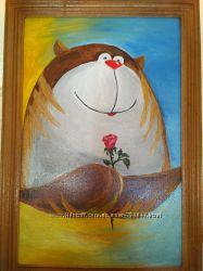 Картина маслом Мишка