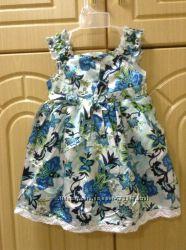Новое нарядное платье Okaidi obaibi на 4-5 лет Франция