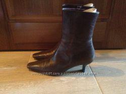 Кожаные коричневые ботинки Bally 36 р-ра
