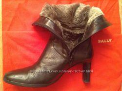 Кожаные зимние ботинки Studio Pollini 36 р-ра Италия