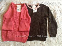 Новый свитер H&M на 4-6 лет розовый и коричневый
