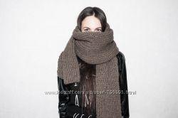 Огромный шарф из толстой пряжи. custom made