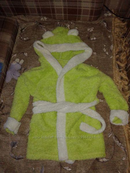 махровый халат с ушками